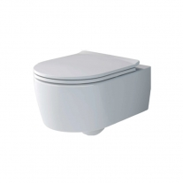 Set vas WC Villeroy & Boch, Soul, suspendat, direct flush, cu capac soft close si quick release, alb