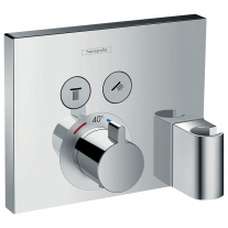 Baterie cu termostatat Hansgrohe, ShowerSelect, cu 2 functii, crom