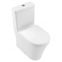 Set vas WC stativ rimless Villeroy & Boch, O.Novo, compact, direct flush, cu rezervor si capac soft close, alb