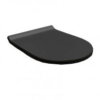 Capac WC Hatria, Fusion, soft-close, cu demontare rapida, slim, negru mat