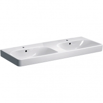 Lavoar dublu Geberit, Smyle Square, 120 cm, alb