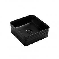 Lavoar pe blat, Fluminia, My Black Box, patrat, cu ventil, negru mat