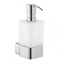 Dozator de sapun, Kludi, E2, cu recipient din sticla opal