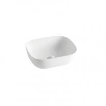 Lavoar pe blat Fluminia, Crius White, 45.5 cm, dreptunghiular, alb