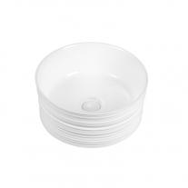 Lavoar pe blat Fluminia, My circle, diametru de 41 cm, rotund, cu ventil, alb