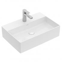 Lavoar pe blat, Villeroy & Boch, Memento 2.0, dreptunghiular, cu preaplin, 60 cm, alb