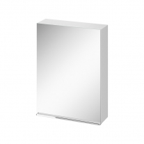 Dulap cu oglinda, Cersanit, Virgo 60, maner cromat, alb