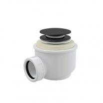 Sifon pentru cadita, AlcaPlast, cu ventil click-clack, negru mat