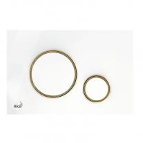 Clapeta de actionare, AlcaPlast, alb/auriu lucios