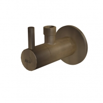Robinet coltar, AlcaPlast, cu filtru 1/2, bronz antic