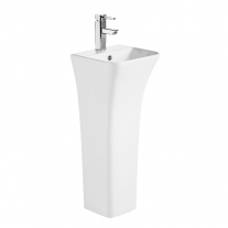Lavoar stativ, Fluminia, Aramis 34, back-to-wall, alb