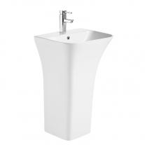 Lavoar stativ, Fluminia, Aramis 55, back-to-wall, alb