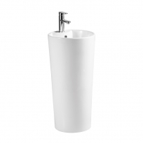 Lavoar stativ, Fluminia, Athos-B, rotund, 40 cm, alb
