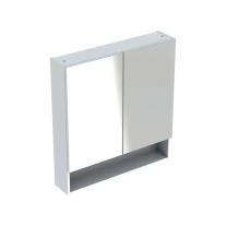 Dulap suspendat cu oglinda, Geberit, Selnova Square, alb lucios, 60 cm
