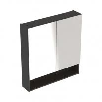 Dulap suspendat cu oglinda, Geberit, Selnova Square, lava, 60 cm