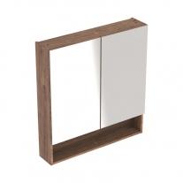 Dulap suspendat cu oglinda, Geberit, Selnova Square, nuc american hickory, 60 cm