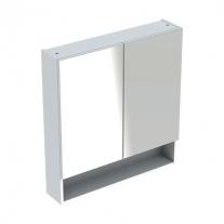 Dulap suspendat cu oglinda, Geberit, Selnova Square, alb, 80 cm
