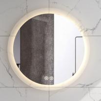Oglinda Fluminia, Miro R60, rotunda, cu iluminare LED, 2 culori