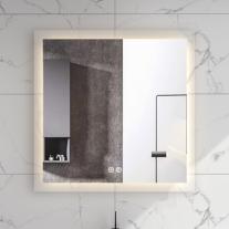Oglinda Fluminia, Miro 75, patrata, cu iluminare LED