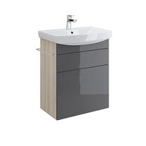 Cersanit, Smart, mobilier pentru lavoar Carina cu doua sertare, 60 cm, gri