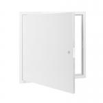 Usita de vizitare, otel zincat, alb, 60x60 cm