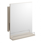 Oglinda dreptunghiulara, SMART, 35 cm, extensibila, cu raft, gri deschis
