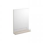 Oglinda dreptunghiulara, SMART, 35 cm, cu raft, gri deschis