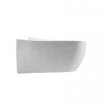 Masca pentru WC si bideu ABITO, decor alb - argintiuiu