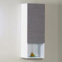Dulap suspendat Arthema, Revo, o usa si un raft exterior, 100 x 35 x 29.5 cm,bambu - alb