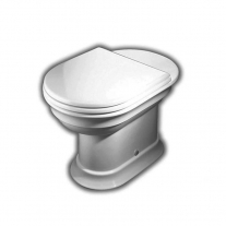 Hatria, Dolcevita, vas WC stativ, iesire verticala, alb
