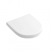 Villeroy-Boch, Capac WC slim Subway 2.0, soft close, alb, pentru vas WC