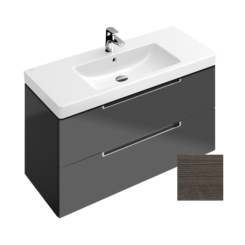 Subway 2 0 oak graphite mobilier suspendat 987x420x449 for Mobilier wc