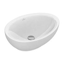 Lavoar pe blat Villeroy & Boch, Aveo New Generation, oval, 60 cm, alb, CeramicPlus