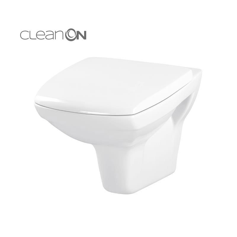 Vas WC CARINA, Clean On, cu capac Duroplast