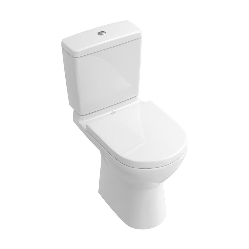 Vas WC rotund, monobloc stativ, direct flush, alb, O.Novo