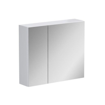 Dulap Opoczno, Street Fusion, cu oglinda, fara sistem de iluminare, 80 cm, alb