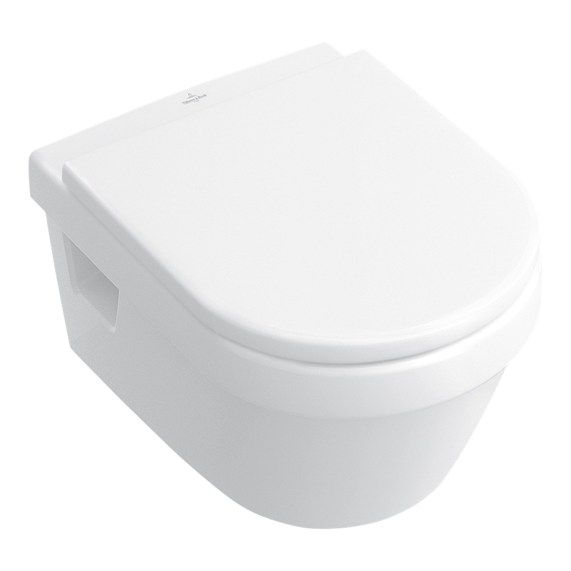 Set vas WC suspendat compact, cu capac Soft Close, alb alpin, Architectura