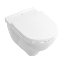 Set vas WC suspendat Villeroy & Boch, O.Novo, COMPACT, direct flush, cu capac soft close, alb