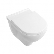 Set vas WC suspendat Villeroy & Boch, O.Novo, direct flush, cu capac soft close si quick release, alb