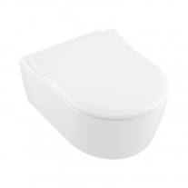 Villeroy-Boch, Set vas WC suspendat Subway 2.0, direct flush, cu capac slim, soft close, alb