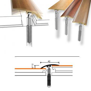 PROFIL TRECERE PVC 42MM, 100CM, FAG, D-P0200-1E-100