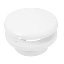 Valva de aerisire Haco, reglabila, Ø 12.5 cm, alb