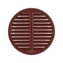 Rama aerisire Haco, rotunda, cu obloane reglabile, 12,5 - 16  cm, maro