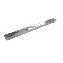 Gratar rigola Plast BRNO, Klasik, inox mat, partea vizibila a rigolei, 800 mm