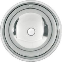 Chiuveta rotunda incorporabila, inox, Rondo, 42 cm