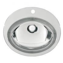 Chiuveta rotunda incorporabila, inox, 45 cm, Rondo