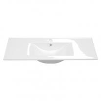 Oslo/Porto/Mystic, lavoar ceramic pentru mobilier de baie, alb, 82 cm
