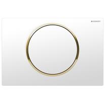 Clapeta de actionare Geberit, Sigma10, alb cu detalii aurii